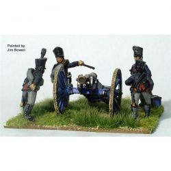 PRUSSIAN FOOT ARTILLERY FIRING 6 POUNDER