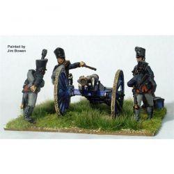 PRUSSIAN FOOT ARTILLERY FIRING 6 POUNDER