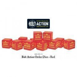 Bolt Action Orders Dice - Red