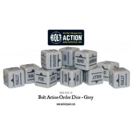 Bolt Action Orders Dice - Grey