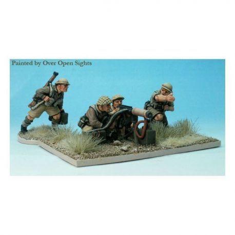 British Vickers machine gun and four crew