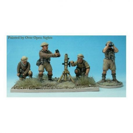 British 3inch mortar and four crew