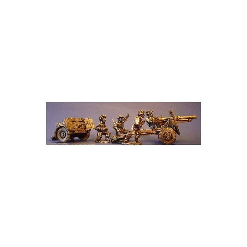 British 25pdr Field Gun and Crew  - Bandua Wargames