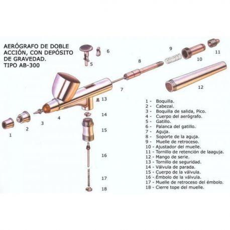DEPOSITO VIDRIO 15ML CON TUBO ASPIRACION-481