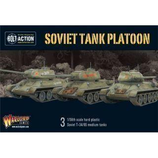 Soviet Armoured Plat (3 T-34's plus infantry)