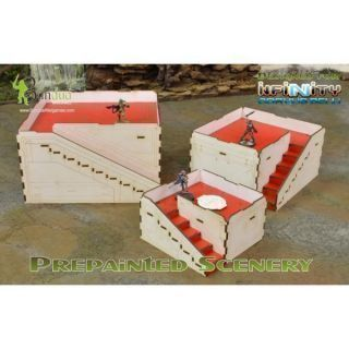 Prepainted Q-Building Pack (White & Red) Esceneografía 28mm