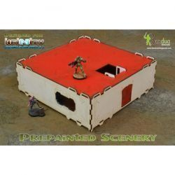 Prepainted Modular Building (White & Red) Esceneografía 28mm