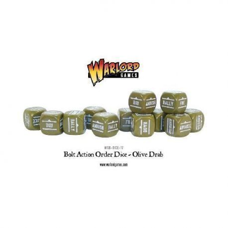 Bolt Action Orders Dice - Olive Drab