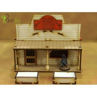 Prepainted Far West Shop 1 Scenery Wargames 28mm / 32mm