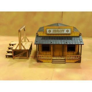 Prepainted Sheriff Office Scenery Wargames 28mm / 32mm