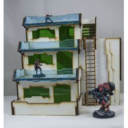 Prepainted Atl Apartment scenery scifi 32mm
