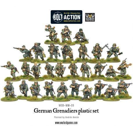 GERMAN GRENADIERS PLASTIC BOX SET
