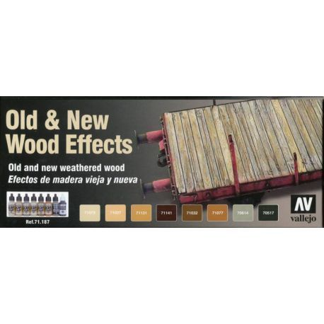 MODEL AIR SET: OLD AND NEW WOOD EFFECTS (8)