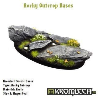 ROCKY OUTCROP BASES, OVAL 75MM
