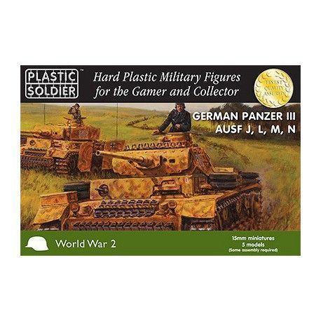15MM WW2 GERMAN PANZER III AUSF J, L, M, N