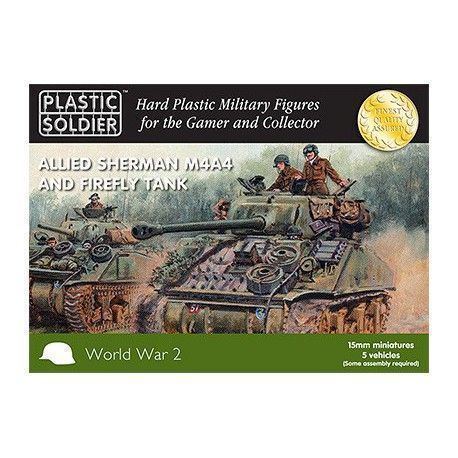 15MM EASY ASSEMBLY SHERMAN M4A4 AND FIREFLY TANK