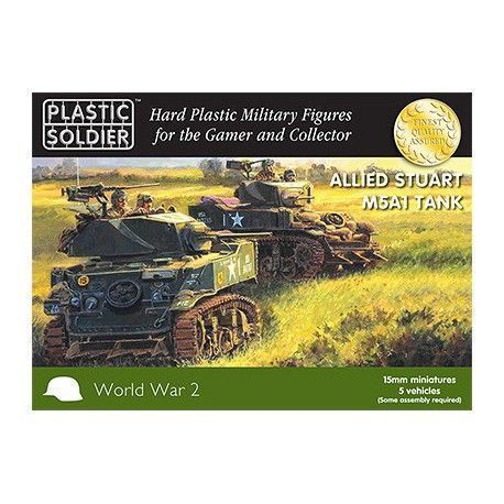 15MM EASY ASSEMBLY STUART M5 TANK (5)