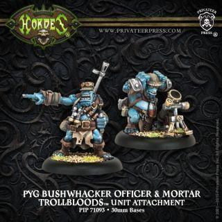 Trollblood Pyg Bushwacker Officer & Mortar