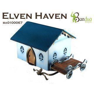Elven Haven Escenografía pre pintada 28 mm ( AoS , Saga , Historical Wargames) Escenografía 28 mm ( AoS , Saga , Historical