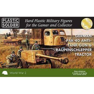 15mm German Pak 40 Anti-tank Gun & Raupenschlepper Tractor