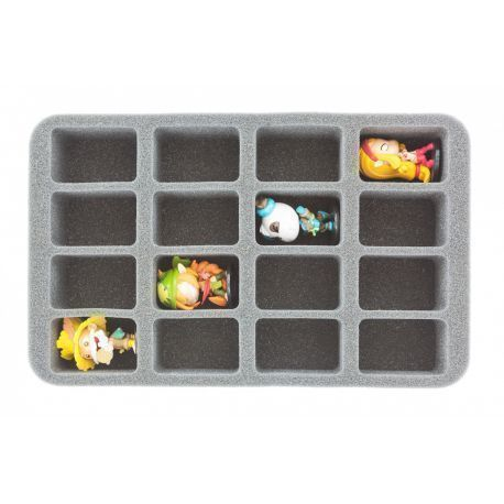 HS050KR07 50 mm (2 inch) half-size Figure Foam Tray for 16 Krosmaster figures