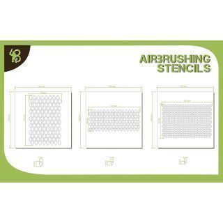 Bandua Stencils: Diamond Pattern 1