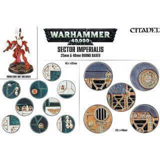SECTOR IMPERIALIS 25MM & 40MM ROUND BASES