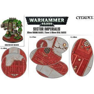 SECTOR IMPERIALIS 60MM ROUND BASES, 75MM & 90MM OVAL BASES