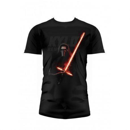 Kylo Sable Camiseta Negra Chico T-L Star Wars Ep7