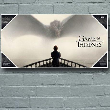 Tyrion Y Dragon Poster De Vidrio Game Of Thrones