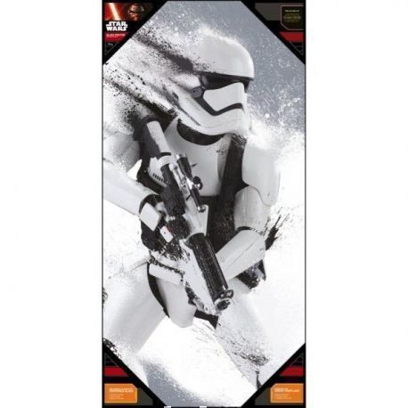 Stormtrooper Nieve Poster De Vidrio Star Wars Ep7 30X60 Cm