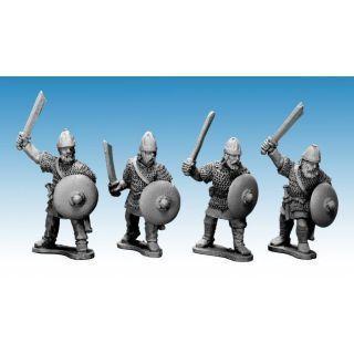 Saxon Noble Warriors with swords