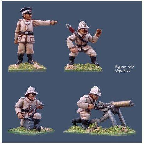 German Seebataillon Maxim Gun Crew
