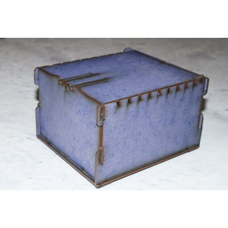 Trading Card Box - blue