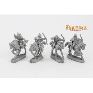 Junior Druzhina Archers (4 mounted resin figures)