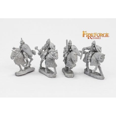 Junior Druzhina mixed weapons (4 mounted resin figures)