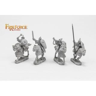 Senior Druzhina Command (4 mounted resin figures)