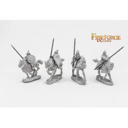 Senior Druzhina Lancers (4 mounted resin figures)