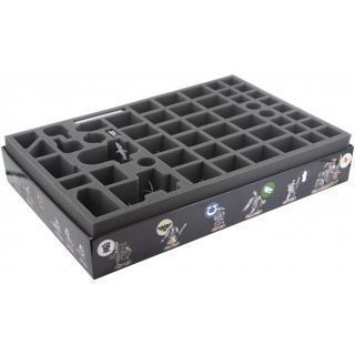 70 mm (2.76 inches) foam tray for the Deathwatch Overkill board game box