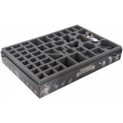 60 mm (2.36 inches) foam tray with 52 compartments for the Warhammer Quest - Silver Tower board game box