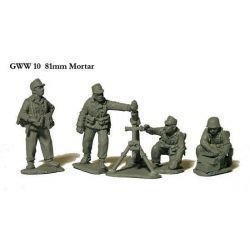 81mm mortar and crew