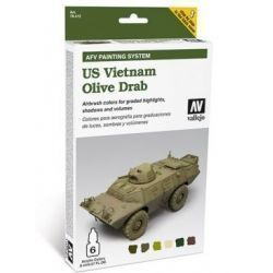 AFV US VIETNAM OLIVE DRAB SET 6X8ML