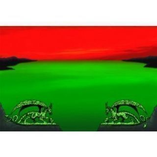 Dragon Shield Play Mat - Green - Red Zone