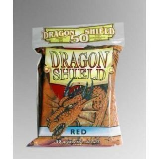 Dragon Shield Standard Sleeves - Red (50 Sleeves)