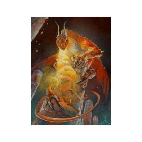 Wizard's Choice Picture Standard Sleeves - Dragon of the Lava Mountains (50 Sleeves)
