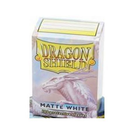 Dragon Shield Standard Sleeves - Matte White (100 Sleeves)