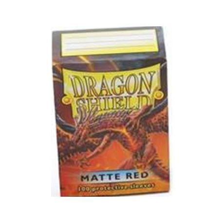 Dragon Shield Standard Sleeves - Matte Red (100 Sleeves)
