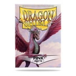 Dragon Shield Standard Sleeves - Matte Pink (100 Sleeves)