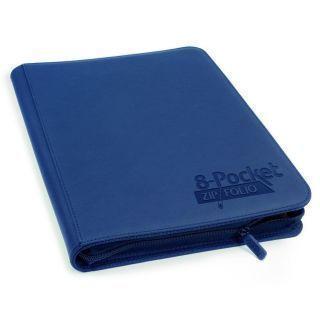 Álbum 8 - Pocket QuadRow Zipfolio Xenoskin Azul Marino