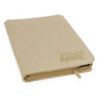 Álbum 8 - Pocket QuadRow Zipfolio Xenoskin Beige